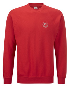 Crew Neck Sweatshirt (red) £19.50.Also in black, royal blue, bottle green, navy blue, purple red and white.