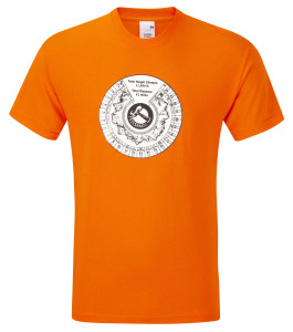 Tally T-shirt (orange) £17.50.Also available in black, royal blue, fuschia, bottle green, navy blue, purple, red, white and yellow.
