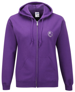 Full zip hoodie sweatshirt (purple) £28.50. Also in black, royal blue, chocolate, navy blue, orange, red and white. Also in lady fit in black, fuschia, navy blue, red and white.