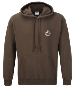 Hoodie sweatshirt (chocolate) £20.Also available in black, royal blue, charcoal grey, fuschia, bottle green, navy blue, orange, purple, red, white and yellow. Other colours available on request.