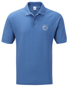 Polo shirt (royal blue) £19.Also available in black,  fuschia, bottle green, navy blue, orange, purple, red, white and yellow. Other colours available on request.