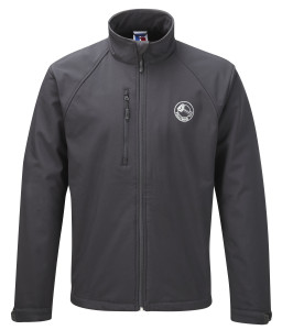 Soft shell jacket (black) £50.Also available in charcoal grey, navy blue and red