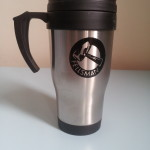 Thermal mugs with black logo £9.50
