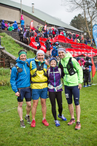 Jez with his fellow TNF Fellsman runners