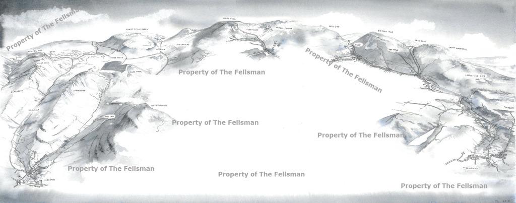 Fellsman Route - Watercolour